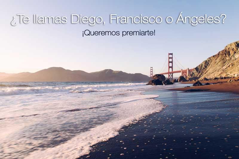 ¿Te llamas Francisco, Diego o Ángeles?