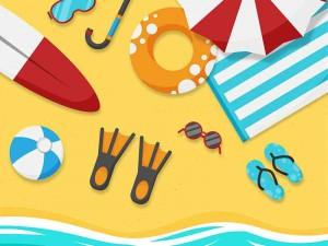 beach vocabulario de vacaciones