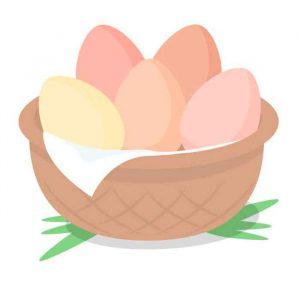 eggs-in-basket English idioms
