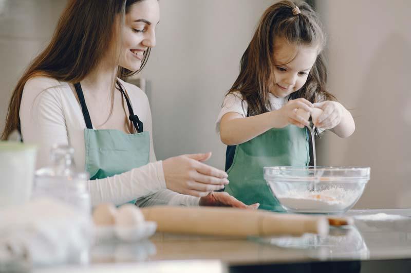 proceso para ser au pair cocinando